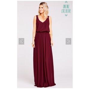 Show Me Your MuMu Kendall Bridesmaid Dress -Merlot